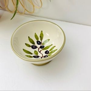 Williams Sonoma | Olive Branch Footed Bowl